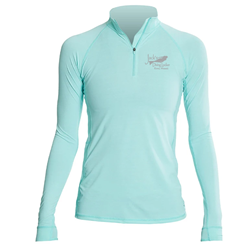 Womens Collar Performance Tee - Anetik Flight Tech L/s