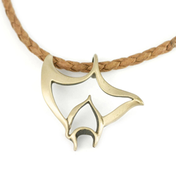Bronze Manta Necklace