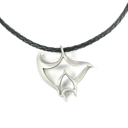 Pewter Manta Necklace