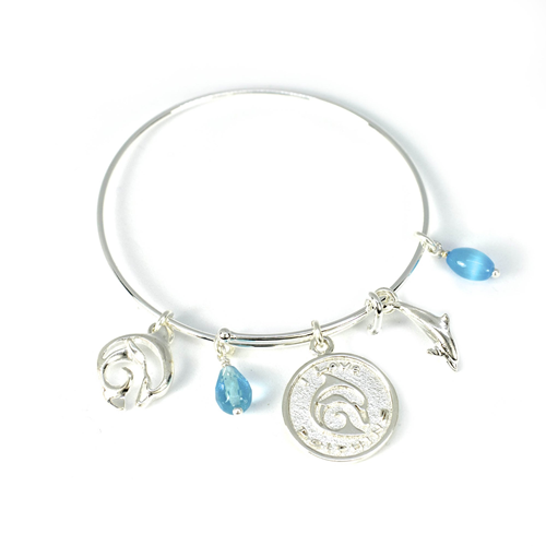 Adjustable Dolphin Silver Bracelet