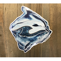 Big Island Dolphin And Whale Sticker