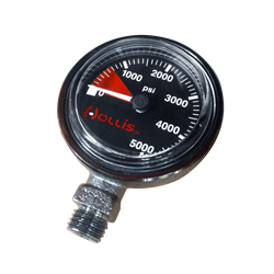 Pressure Gauge Module Psi Low Profile Blk-- Metal W/o Boot