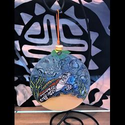 Sea Turtle With Fish Ornament