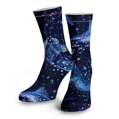 Whale Shark Wonderland Socks