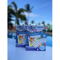 'color And Go' Aquatic Travel Coloring Book