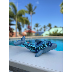 Sequin Dolphin Plushie