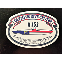 Sticker - U-352 / NC Dive Flag