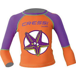 Pequeno Girls Rashguard-starfish