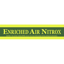 Enriched Air Tank Wrap Around Decal