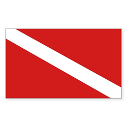 Standard Dive Flag Stickers