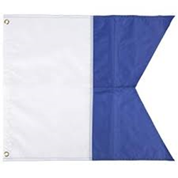 """Nylon Alpha Blue-white Flag 20"""" X 24"""""""""""