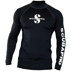 Black Rash Guard Mens, Long Sleeve (upf50)