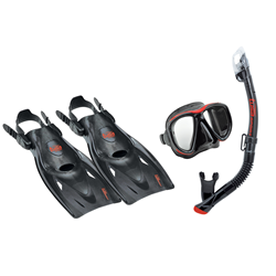 Powerview Adult Black Snorkeling Trio