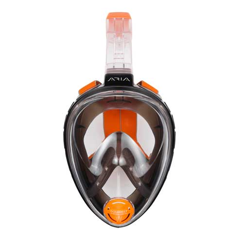 Aria Full Face Snorkeling Mask, Black - S