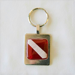 Dive Flag Keychain