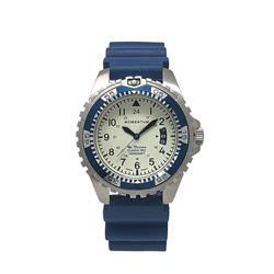 M-ocean 38, White, Blue Diver Rubber