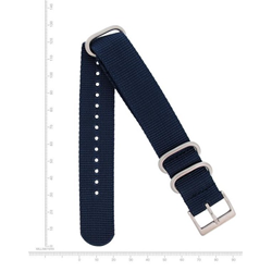 22mm Web Nato Nylon Band, Blue
