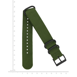 22mm Web Nato Nylon Band, Green