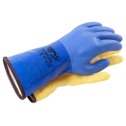 Commercial Grade Blue Dry Gloves W/liner