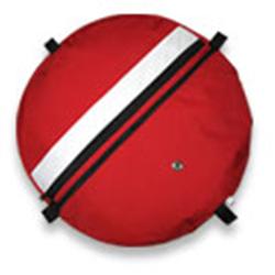Deluxe Float Cover/padded Shoulder Strap-dive Flag