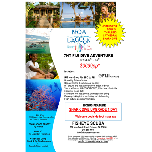 Beqa Lagoon Beach Front Package
