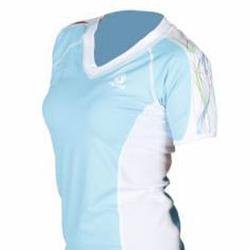 Tilos Ladies Loose Fit V-neck Short Sleeve Rash Guard