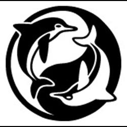 Dolphin Yin Yang Sticker