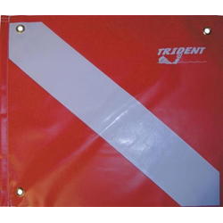 Trident Slip On Dive Flag W/grommets And Stiffener