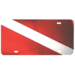 License Plate Mirrored W/flag