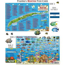 Card, Roatan Map & Fish Id