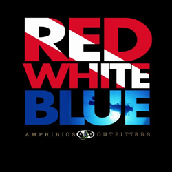 Shirt, Red, White, Blue