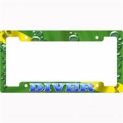 License Plate Framew/bubbles