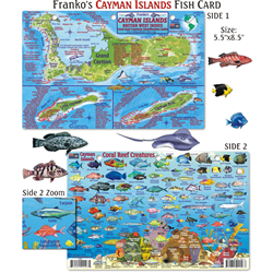 Card, Cayman Map & Fish Id