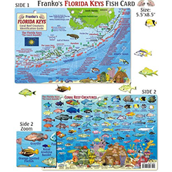 Card, Fl. Keys Map & Fish Id