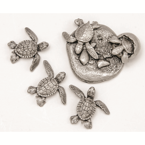 Magnets, Pewter Sea Turtle, Set of 4