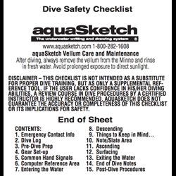 Dive Safety Checklist