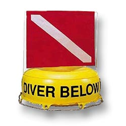 Inflatable Diver Below With Standard Dive Flag