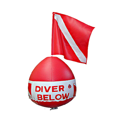 Inflatable Surface Float With Dive Flag