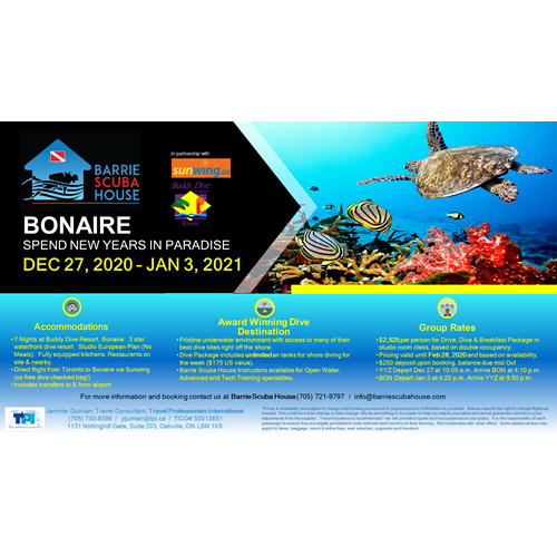 Bonaire for New Years!