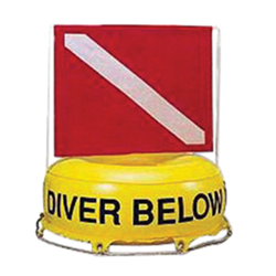Dive Site Marker With Flag